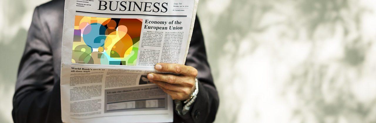 businessman, newspaper, read